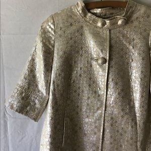 VTG J. CREW || Gold, silver, cream. Silk lining.